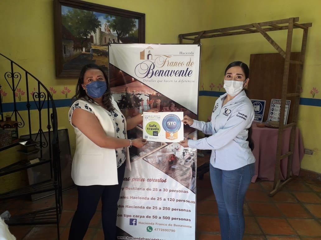 Establecimientos del sector turístico reciben el ¨Distintivo Guanajuato Sano¨