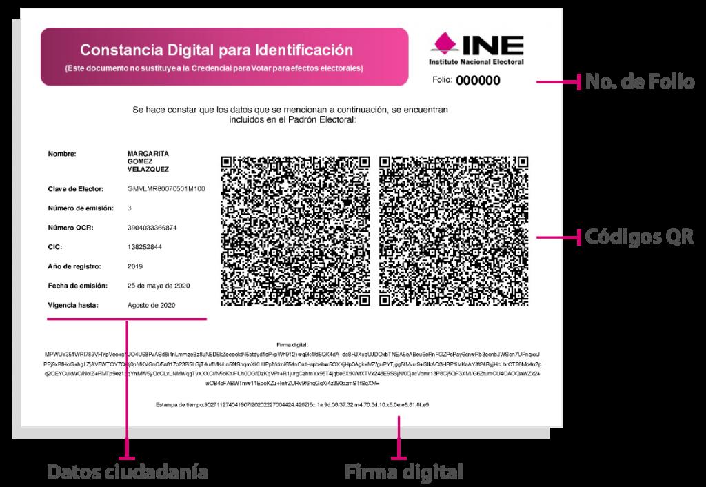 INE emite constancias digitales de identificación temporal debido a pandemia