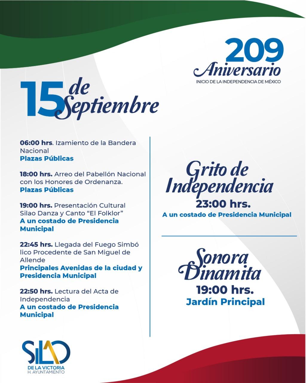 PresidenciaMunicipal invita a disfrutar fiestas patrias con la presentación de la Sonora Dinamita y los Cadetes de Linares