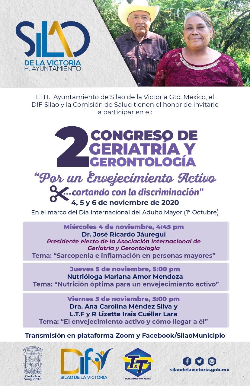Invitan al 2 Congreso de Geriatría y Gerontología