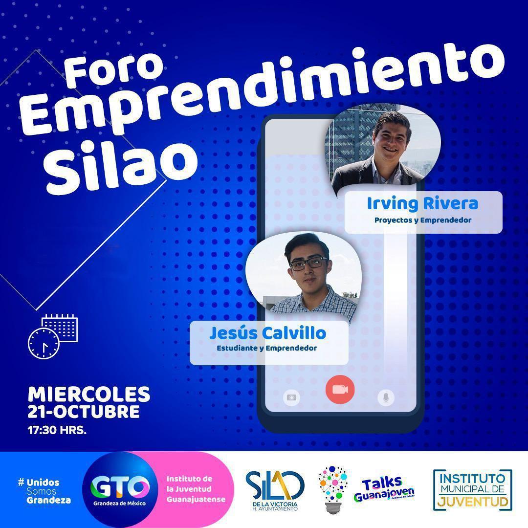 """Invitan al """"Foro emprendimiento Silao"""" para jóvenes que buscan destacar"""