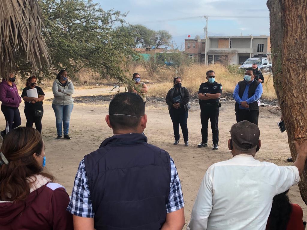 Establece Ramos acuerdo con vecinos de Las Limas para reforzar trabajos de prevención