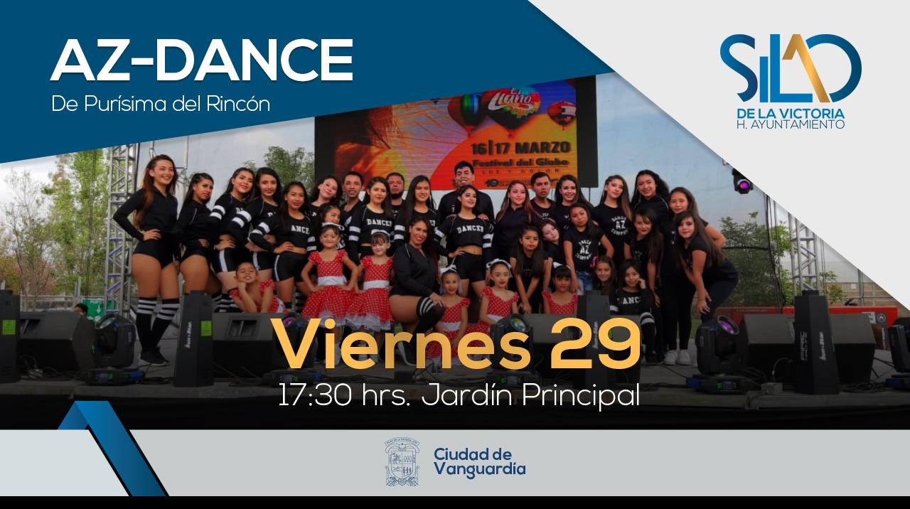 Se presenta el grupo de baile moderno ¨Az Dance¨