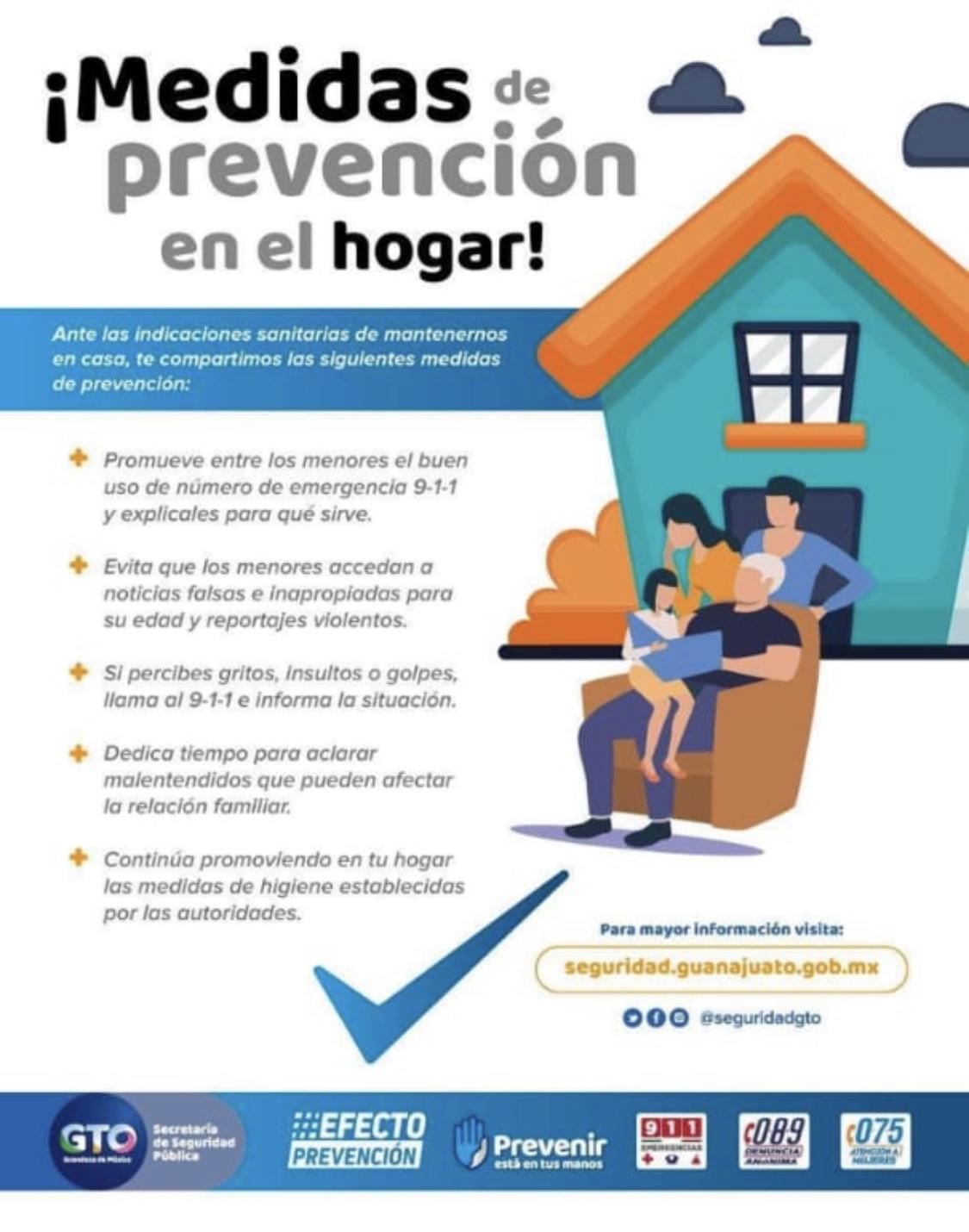 Invitan a seguir medidas de prevención en el hogar