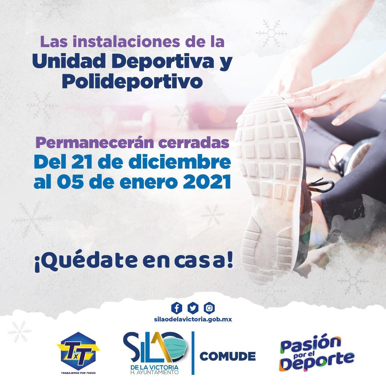 Avisan a ciudadanía que Polideportivo y la Unidad Deportiva suspenderán labores