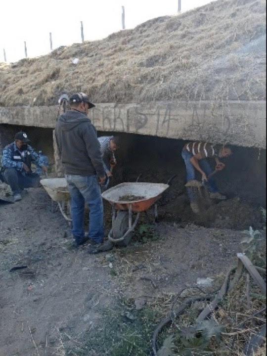 Realizan trabajos preventivos en tramo del Arroyo del Muerto