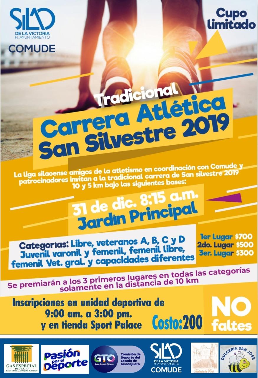 Invitan a tradicional carrera San Silvestre 2019