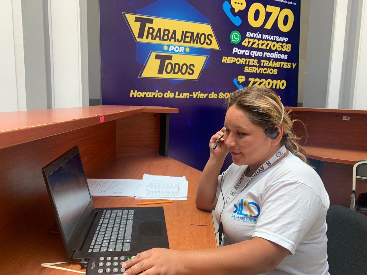 A través del 070 pueden realizar reportes, trámites y servicios sin salir de casa