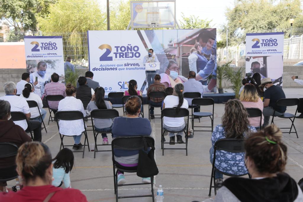 Toño Trejo anuncia apoyos directos a colonias populares