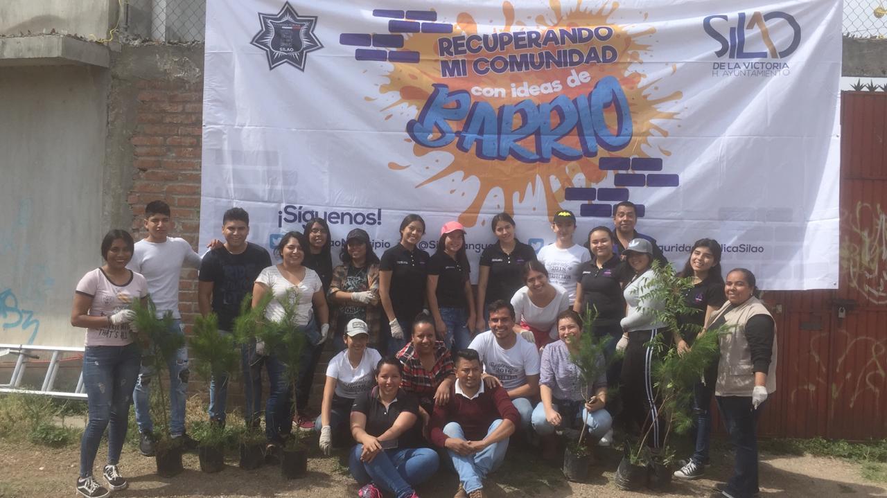 Prevención del Delito reforesta área de donación en Sopeña